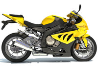Sport Bike Racing Motorcycle Model