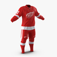 hockey clothes detroit red 3d 3ds
