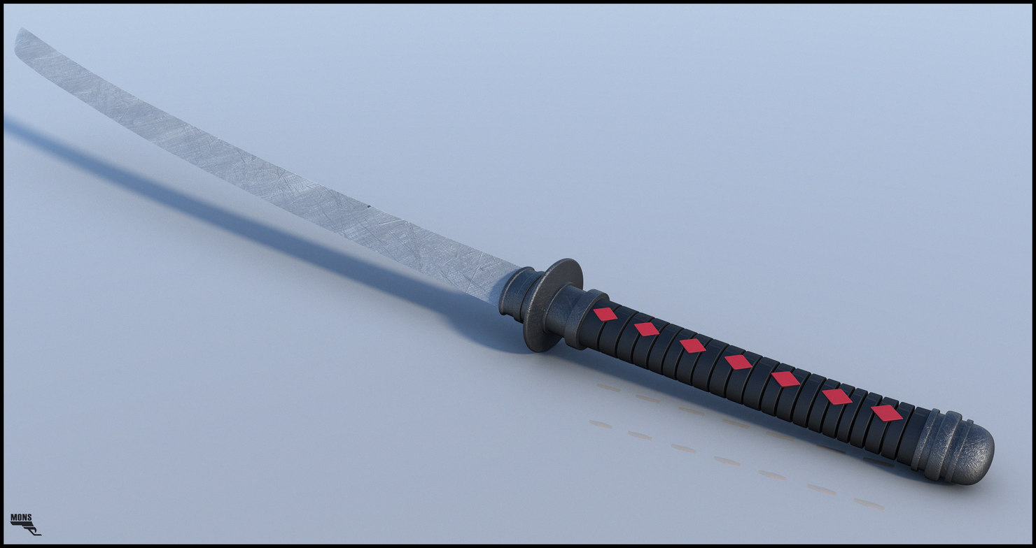 3d katana weapons sword