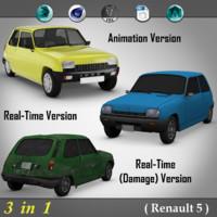 3 1 renault 5 3d model