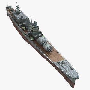 japanese cruiser oyodo 3d model