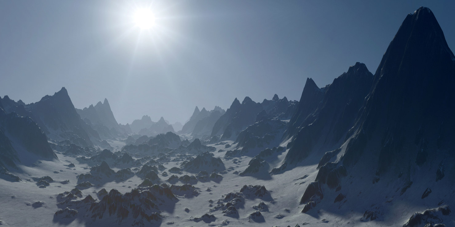 terrain mountain valley 3d max