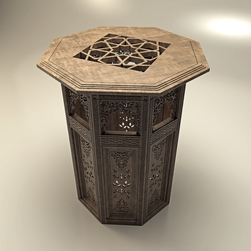 oriental coffee table 3d max