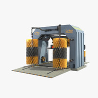 3d automatic car wash model