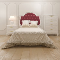3d bedroom set fiona table lamp model