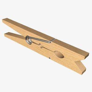 clothespin clothes 3d model