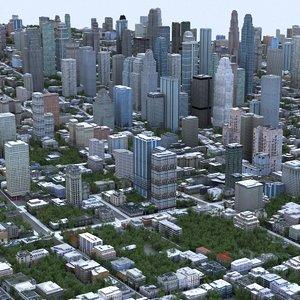 cityscape scene highrise max