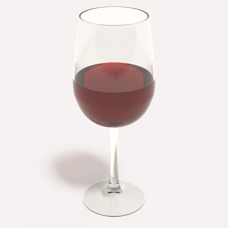 wine glass 3d 3ds