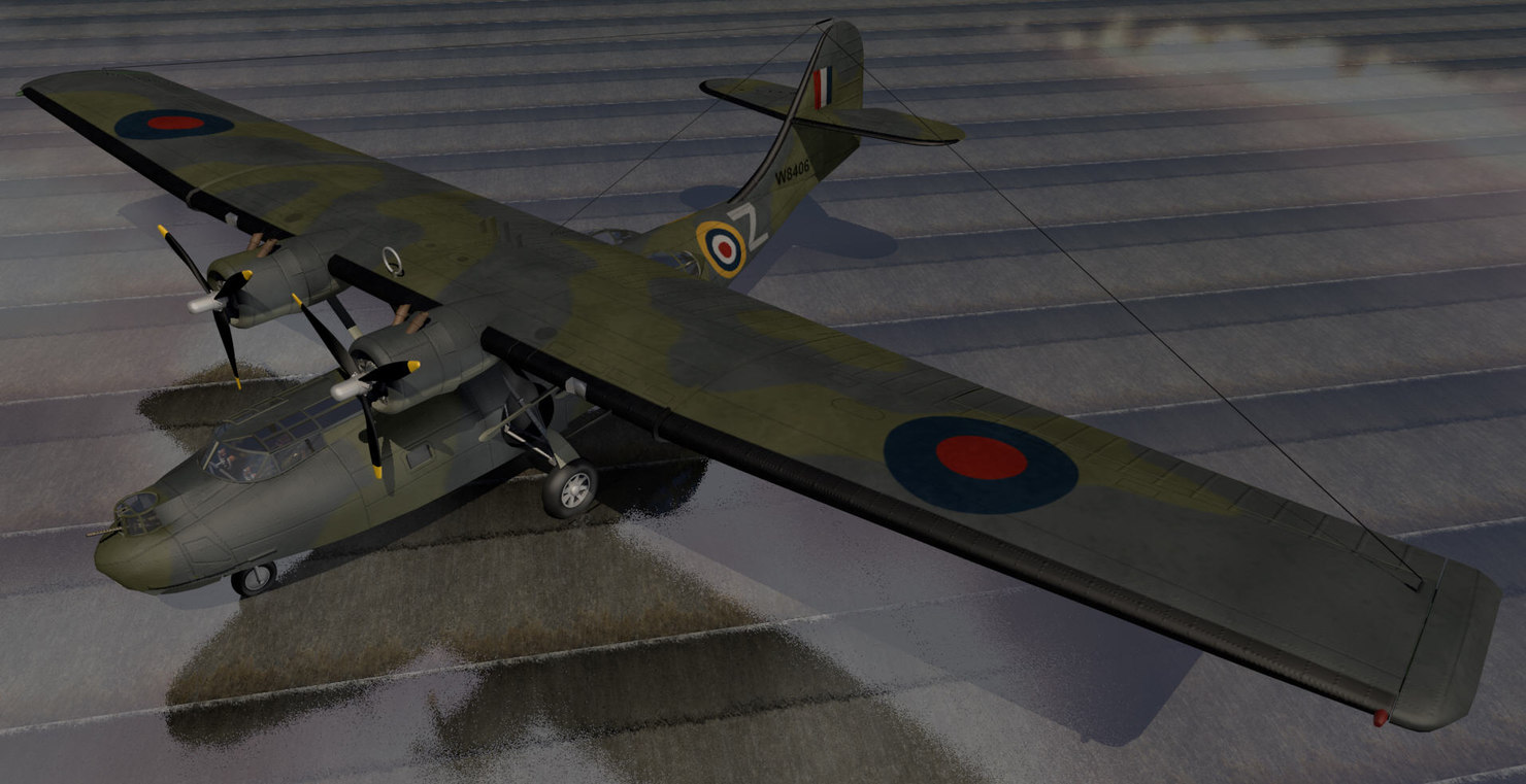 3d model plane consolidated catalina mk-1