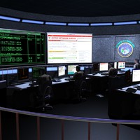 Cyber Command War Room Animated Data
