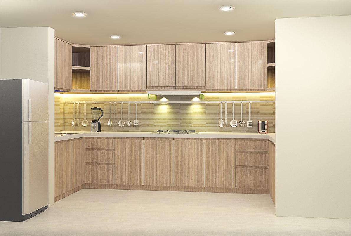 3d wet kitchen