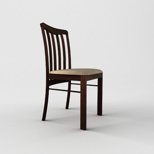 3d ma wooden chair
