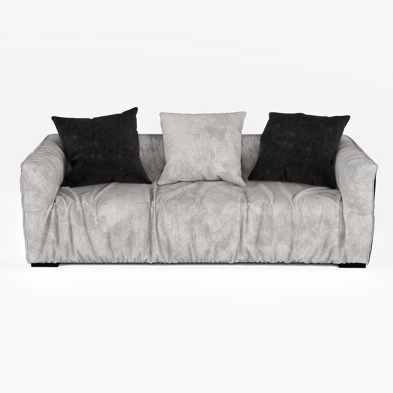 3d model living cheese sofa