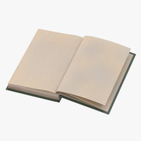 3d classic book 06 open model