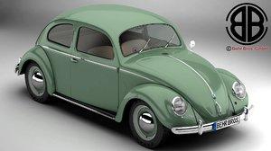 volkswagen beetle 1951 deluxe 3d model