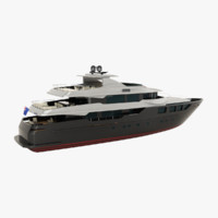 admiral 47 maxima yacht 3d model