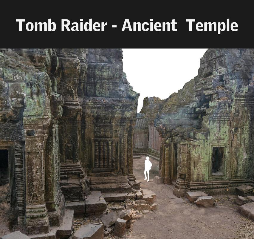 3d model ancient temple 16 k