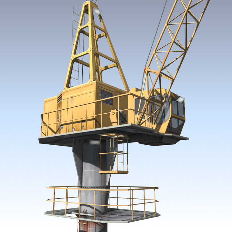 crane port 3d 3ds