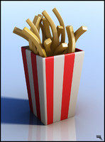 free french fries 3d model