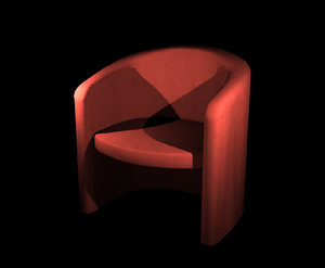3d model suede lounge chair