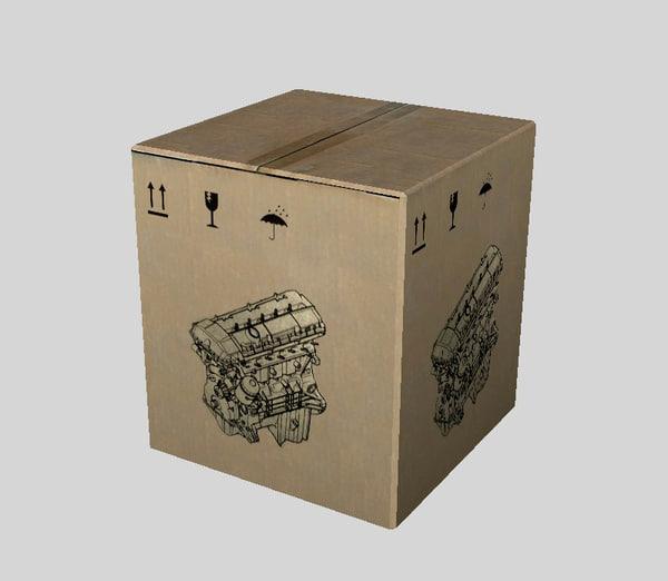 engine parts box 3d x