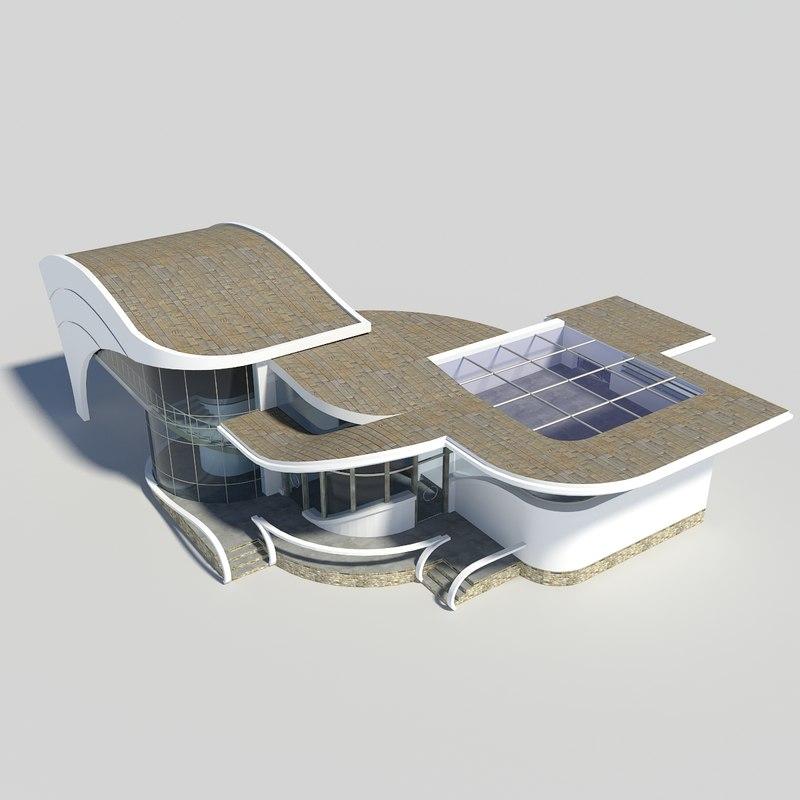 house modern 3ds