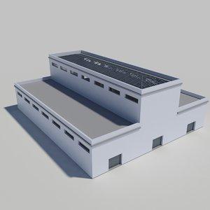 industrial building interior scene max