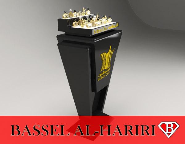 perfume display stand 3d max