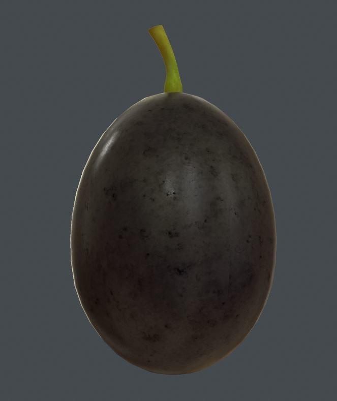 grape 3d obj