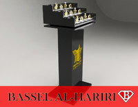 3d model perfume display stand