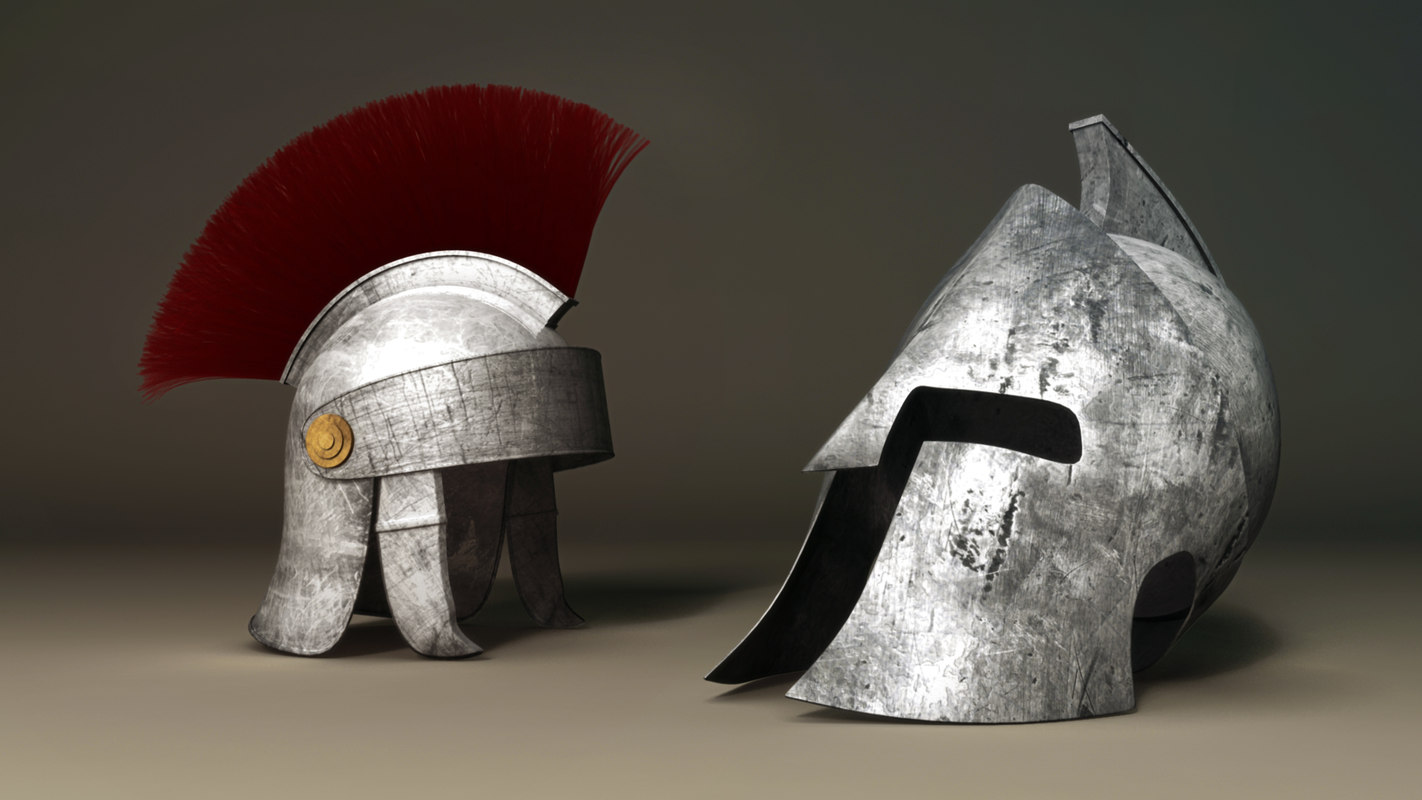 roman helmet spartan 3d model