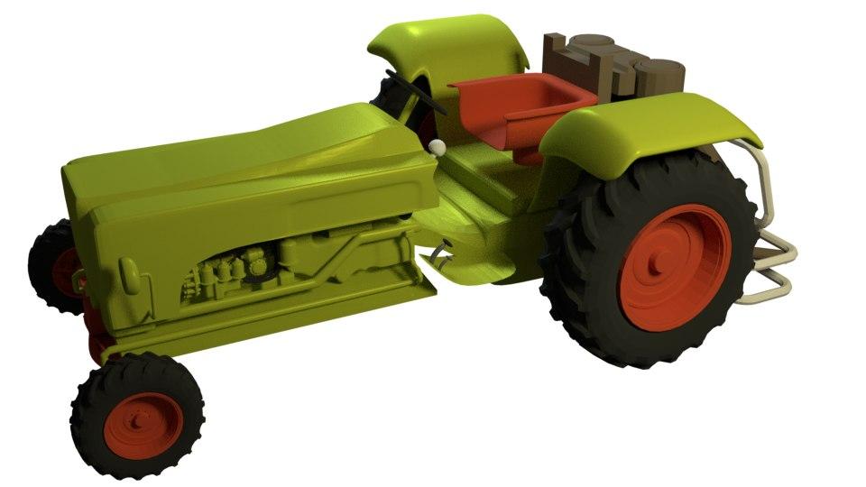 3d model of tractor