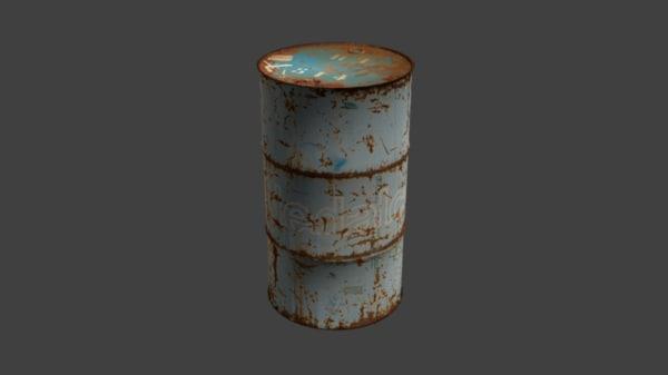 3d model gasoline barrel
