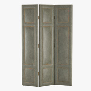 3d 3-panel leather xl screen