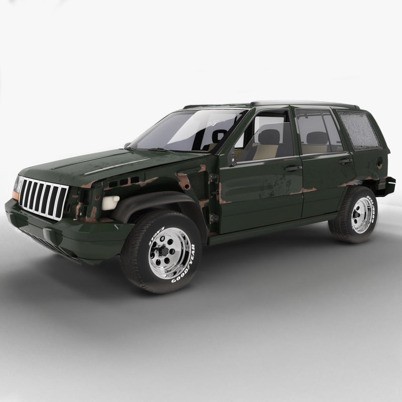 1993 jeep grand cherokee 3d max