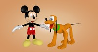 mickey mouse pluto 3ds