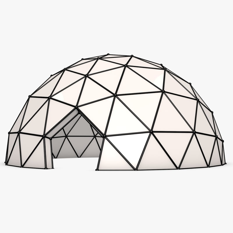 Geodesic Dome Template: Geodesic Dome X