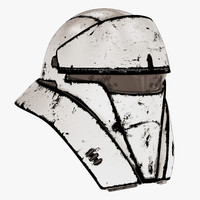 damaged tank trooper helmet 3d model