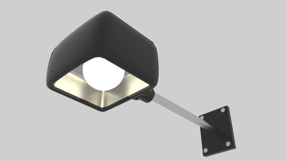 3d arm wall light