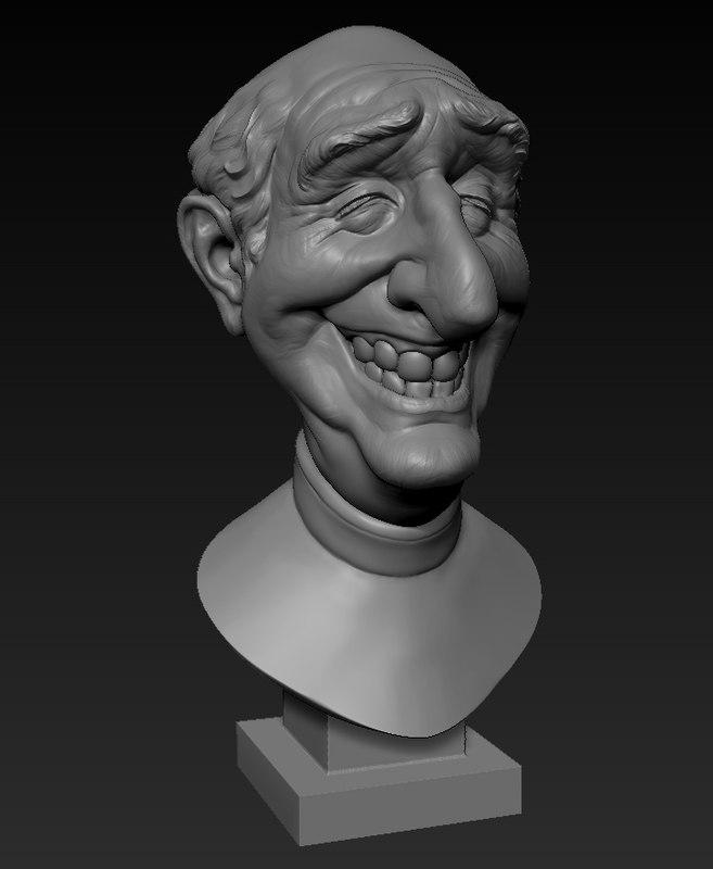 sculpture bust 3d obj