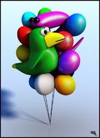 free ballons 3d model