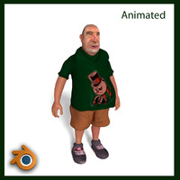 3d man animation model