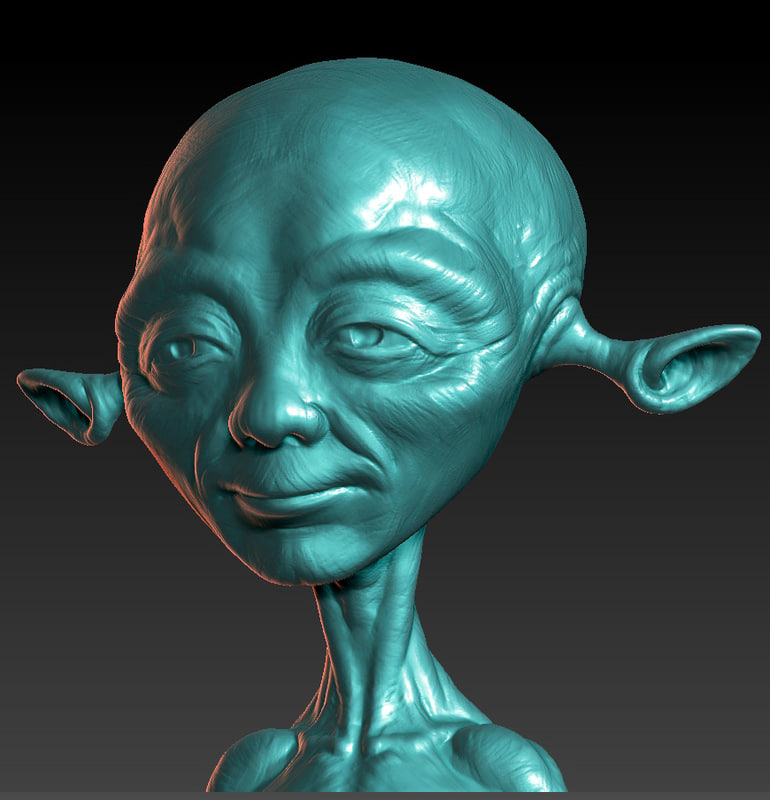little alien obj