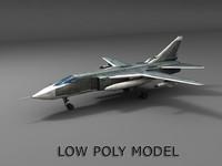 su-24 bomber 3d model