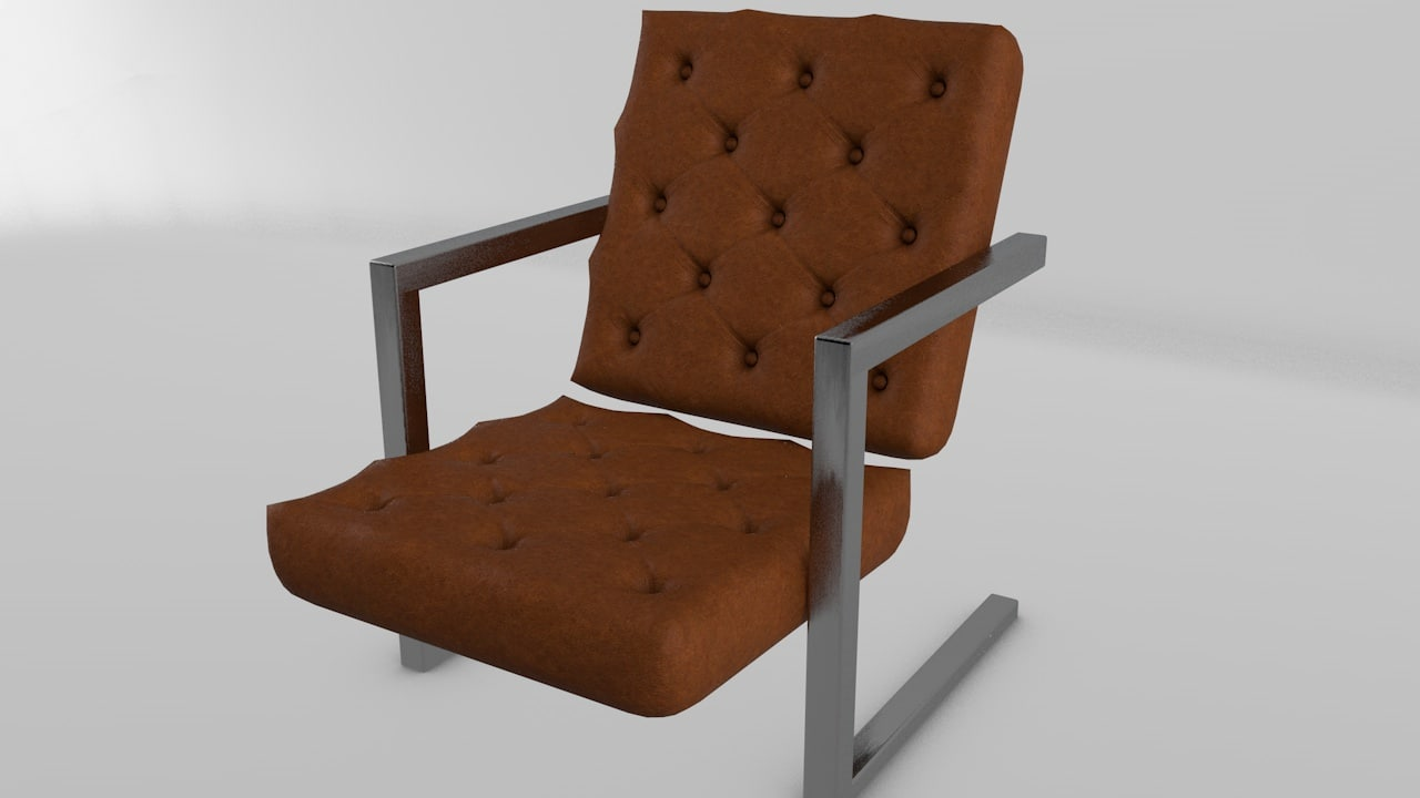chesterfield arm chair 3d c4d