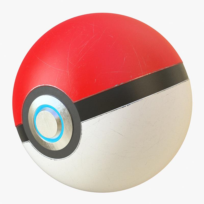 pokeball ball poke 3d max