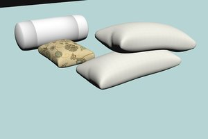 pillow set 3d model