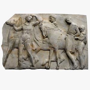 frieze marble parthenon 3d 3ds