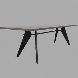 3d model em table