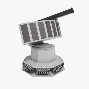 mass chaff decoy rheinmetall 3d model